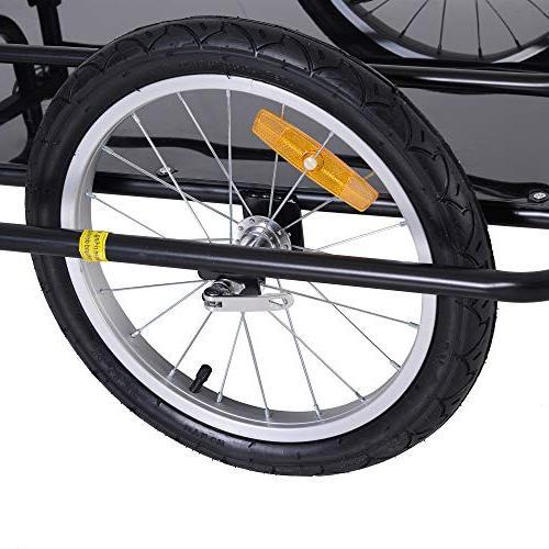 Aosom Folding Bike Post Hitch- Black