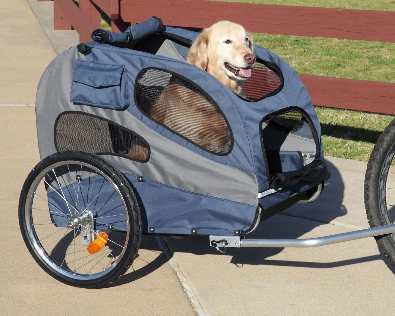 Bike Trailer Holds Pets Up 110 lb