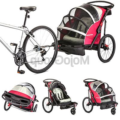 joyrider double bicycle trailer red