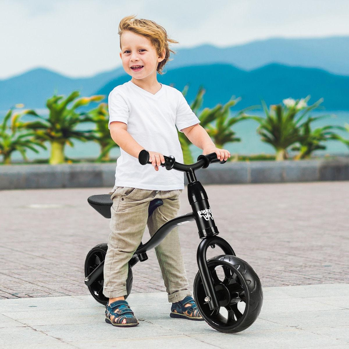 Kids Balance Sport No-Pedal Training Bicycle w/ Seat Black