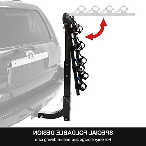 LITE-WAY Hitch Mounted Rack - Duty Bicycle Carrier Fit Sedans,
