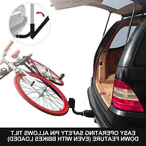 LITE-WAY Rack - Duty Bicycle Carrier Fit Sedans, Hatchbacks,