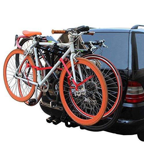 LITE-WAY Hitch Mounted Rack Bicycle Carrier Fit Sedans, Hatchbacks, SUV
