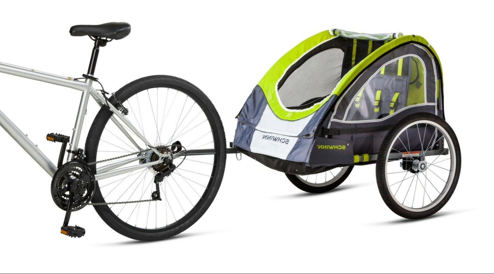 lumina reflective double bicycle trailer