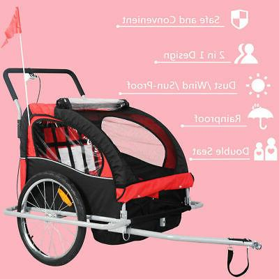 New in 1 Bicycle Child Trailer Jogger Stroller