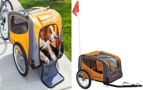 rascal pet trailer orange grey