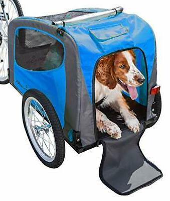 rascal pet trailer renewed blue grey