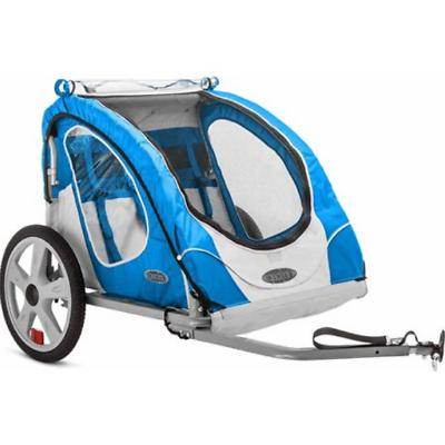 InStep Robin 2-Seater Trailer Blue Bicycle Wheel Child Carri