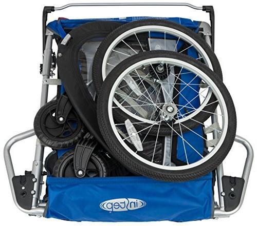 InStep 11 Child Carrier 2-Passenger, Blue/Black/Grey