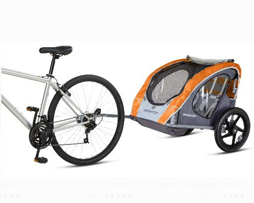 Shuttle Foldable Bike Trailer 2-Seater Carrier For Kids Dogs