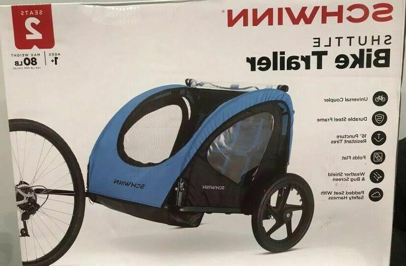 shuttle foldable bike trailer for kids 2
