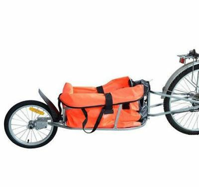 single wheel bicycle bike cargo luggage trailer