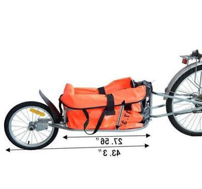 Single Wheel Bicycle Cargo luggage Trailer Cart Carrier Orange