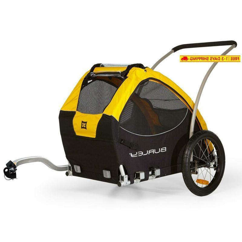 tail wagon bike trailer yellow black