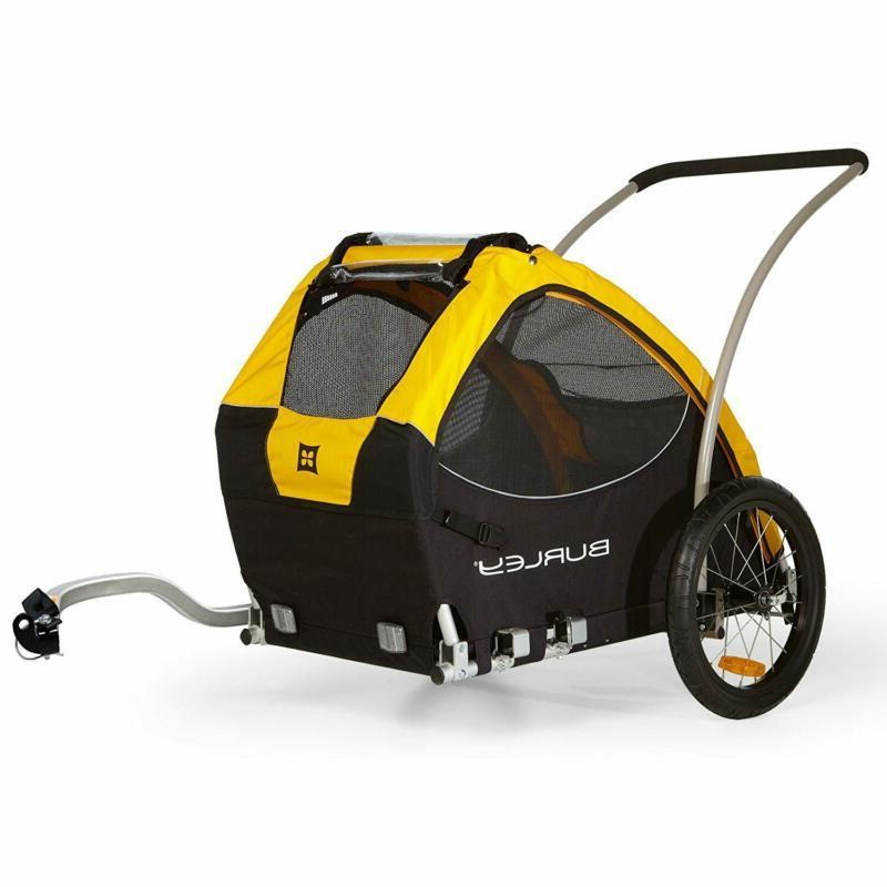 Burley Design Tail Wagon Bike Trailer, Yellow/Black