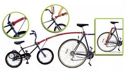 tow bar attach kids bike to adult