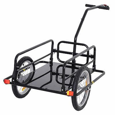 Storage Cart and Trailer Black
