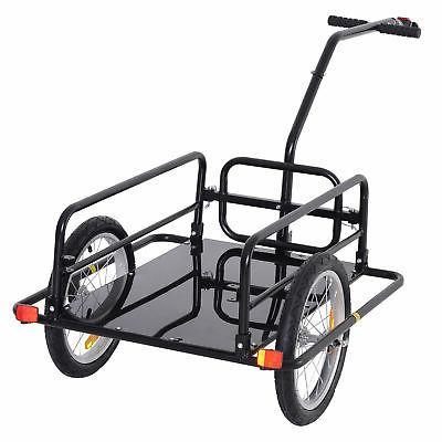 Storage Cart and Trailer Black