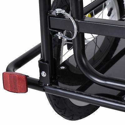 Folding Bicycle Bike Storage Cart Trailer - Black