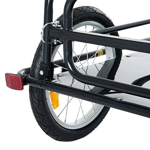 Aosom Bike Cargo and Luggage Trailer Hitch Black