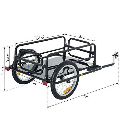 Aosom Folding Bicycle Bike Cargo and Luggage Hitch