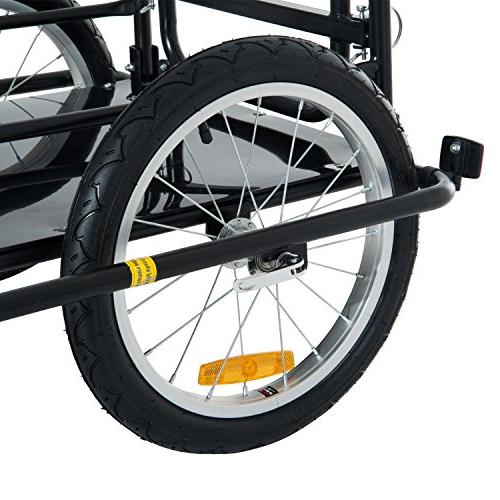 Aosom Folding Bike and Trailer Hitch Black