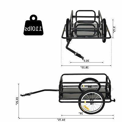 Aosom Wanderer Cargo Cart Carrier Black