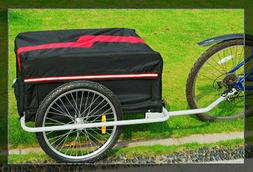 Large i10Direct Bicycle Bike Cargo Trailer Red and Black - F