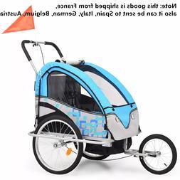 Lightweight 2-In-1 Kids Bicycle <font><b>Trailer</b></font>