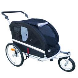 MB Booyah Large Pet Dog stroller and Bike Bicycle Trailer wi