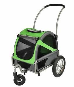 DoggyRide Mini Dog Stroller, Spring Green/Grey