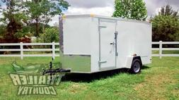 NEW 2019 6 x 12 V-Nosed Enclosed Cargo Motorcycle Trailer w/