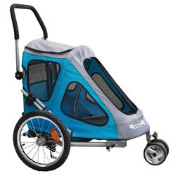 New Petzip Zoom Pet Bike Trailer and Stroller in Blue or Red