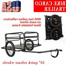 Outdoor Bicycle Cargo Trailer Dural Bike Wheels Foldable Pet