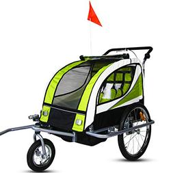 Peach Tree New2 in 1 Bicycle Pet Trailer Stroller for Pet Do