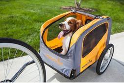 Pet Bike Trailer Carrier Universal Pull Behind Dog Wagon Car
