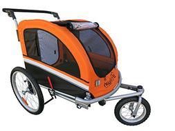 Booyah Large Pet Bike Trailer Dog Stroller & Jogger with Sho