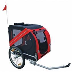 Pet Bike Trailer Jogging Stroller Foldable Dog Travel Trolle
