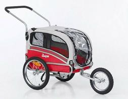 Medium Pet Carrier Jogger 2 in 1 Dog Bike Stroller Trailer B