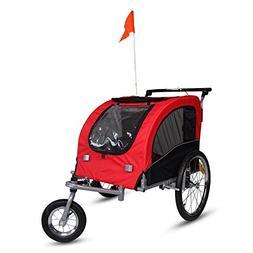 Kinbor New Pet Dog Bike Stroller Bicycle Trailer & Jogging T