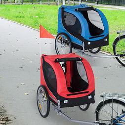 Pet Dog Bike Trailer Bicycle Stroller Jogger Folding Travel
