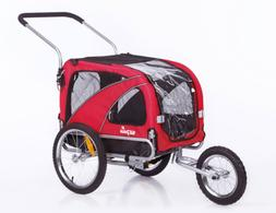 2 in1 medium pet dog bike trailer bicycle carrier stroller j