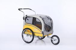 Sepnine Pet Dog Bike Trailer, Yellow/Grey
