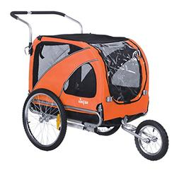 Sepnine Pet Dog Bike Trailer, Orange