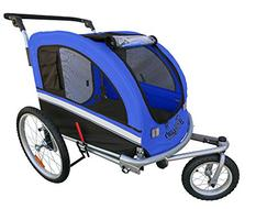 Booyah's large pet trailer and stroller with suspension