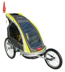 premier 2 child aluminum bike trailer racing