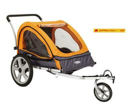 Instep Quick-N-Ez Double Seat Foldable Tow Behind Bike Trail