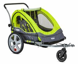 Instep Quick-N-Ez Double Tow Behind Bike Trailer, Converts T