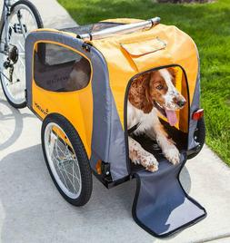 rascal pet bike trailer orange grey