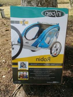 INSTEP Robin Blue Bicycle Pull Behind Trailer 2 Seat Great F